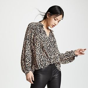 Zadig & Voltaire Leopard Print Blouse- NWT